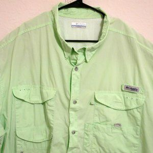 Columbia Short Sleeve Fishing Shirt 4X Vented